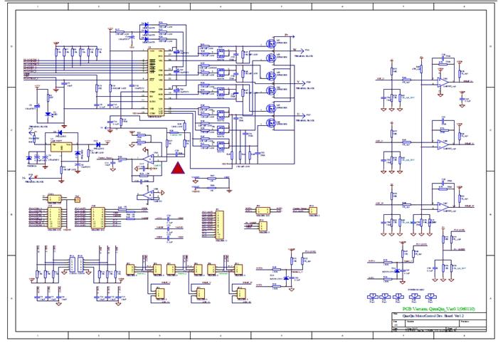 低压电机功率板原理图