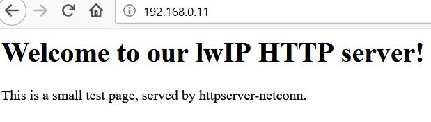 XMC实验分享之九十二: XMC4700 RTOS + LWIP + HTTP Server实验